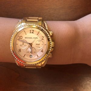 Michael Kors Women's Rose Gold Chronograph Watch